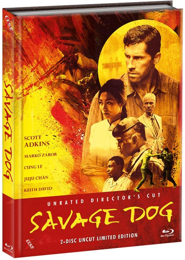 Savage Dog (2017) (Unrated Director's Cut, Cover B, Limited Edition, Mediabook, Uncut, Blu-ray + DVD)