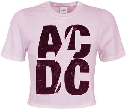 AC/DC - Logo - Ladies Crop Top