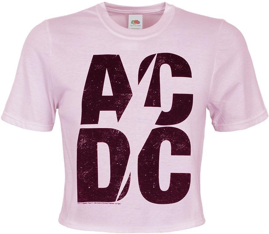 AC/DC - Logo - Ladies Crop Top - Grösse M