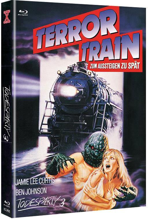 Todesparty 3 - Terror Train zum Aussteigen zu spät (1980) (Cover B, Limited Edition, Mediabook, Uncut, Blu-ray + DVD)