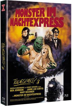 Todesparty 3 - Monster im Nachtexpress (1980) (Cover A, The X-Rated International Cult Collection, Edizione Limitata, Mediabook, Uncut, Blu-ray + DVD)