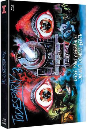 Todesparty 3 - Diese Party bezahlst du mit deinem Leben (1980) (Cover C, Limited Edition, Mediabook, Uncut, Blu-ray + DVD)