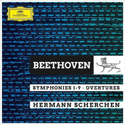 Ludwig van Beethoven (1770-1827), Hermann Scherchen, Vienna State Opera House Orchestra & Royal Philharmonic Orchestra - Symphonies 1-9 / Overtures (8 CDs)