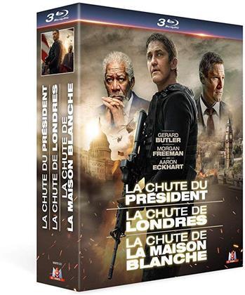 La chute du président / La chute de Londres / La chute de la Maison Blanche (3 Blu-rays)