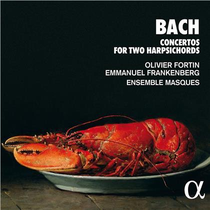 Ensemble Masques, Johann Sebastian Bach (1685-1750), Olivier Fortin & Emmanuel Frankenberg - Concertos For Two Harpsichords