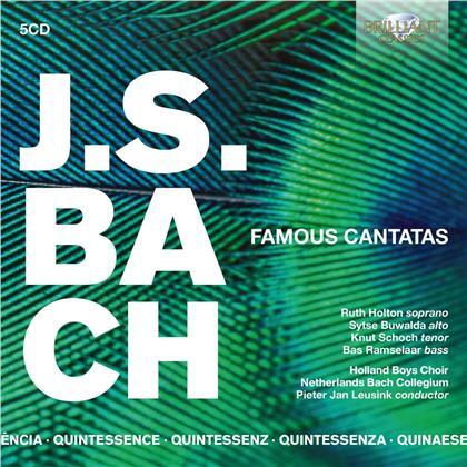 Johann Sebastian Bach (1685-1750), Pieter Jan Leusink, Holland Boys Choir & Netherlands Bach Collegium - Famous Cantatas (5 CDs)