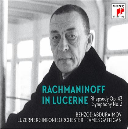 Sergej Rachmaninoff (1873-1943), James Gaffigan, Behzod Abduraimov & Luzerner Sinfonieorchester - Rachmaninoff in Lucerne-Rhapsody on a Theme of Pag