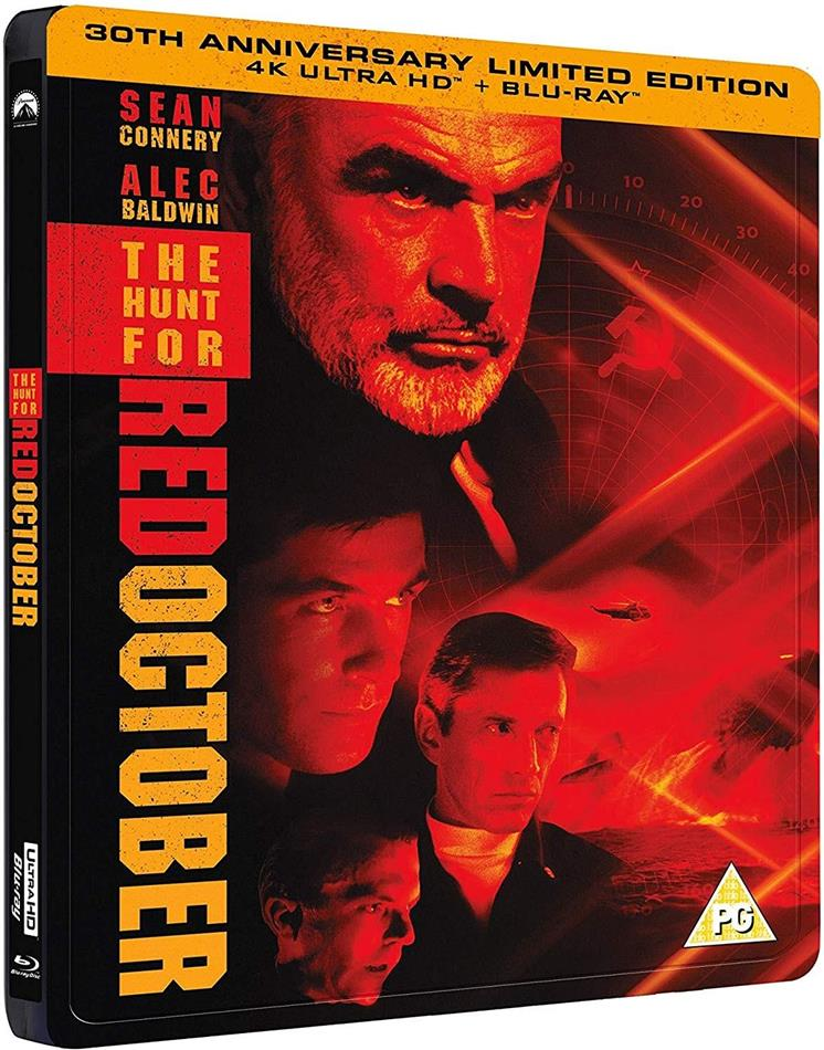 The Hunt For Red October (1990) (30th Anniversary Edition, Limited Edition, Steelbook, 4K Ultra HD + Blu-ray)