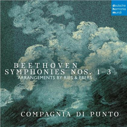 Compagnia Di Punto & Ludwig van Beethoven (1770-1827) - Symphonies Nos. 1, 2 & 3 (Arr. for Small Orch.) (2 CDs)