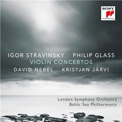 Philip Glass (*1937), Igor Strawinsky (1882-1971), Kristjan Järvi, David Nebel & London Philharmonia - Violinkonzerte