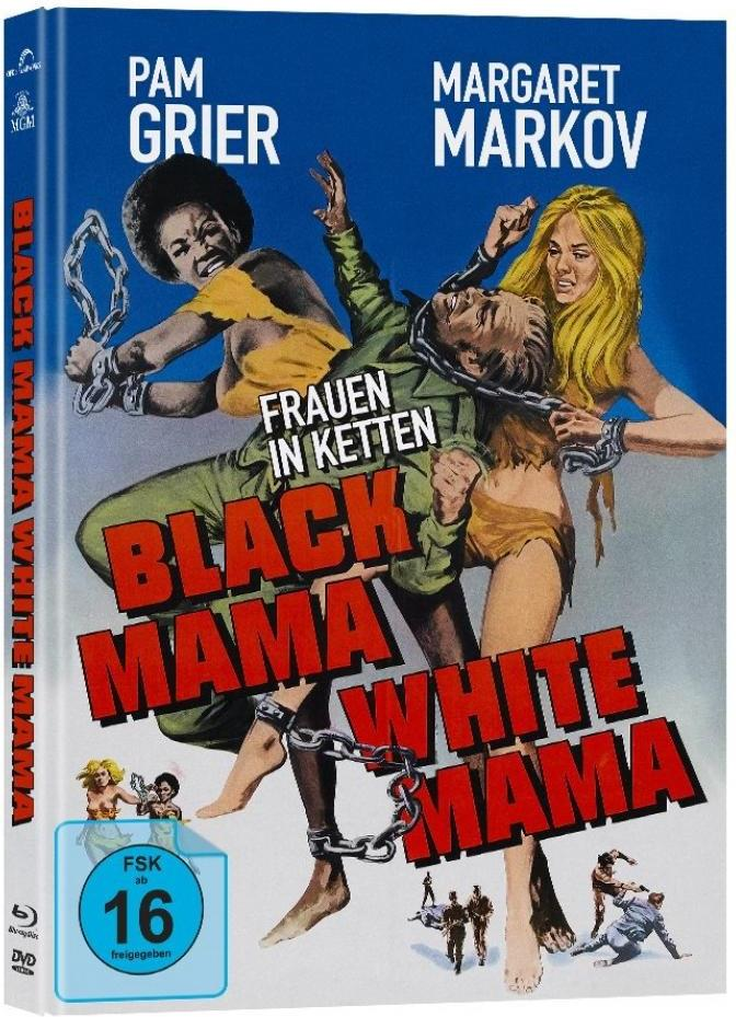 Black Mama White Mama - Frauen in Ketten (1973) (Cover A, Limited Edition, Mediabook, Blu-ray + DVD)