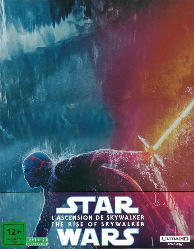 Star Wars - Episode 9 - L'ascension de Skywalker / The Rise of Skywalker (2019) (Limited Edition, Steelbook, 4K Ultra HD + 2 Blu-rays)