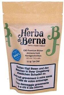 Herba di Berna Amnesia Gold (5.5g) - Indoor (CBD: 10% THC 0.48%)