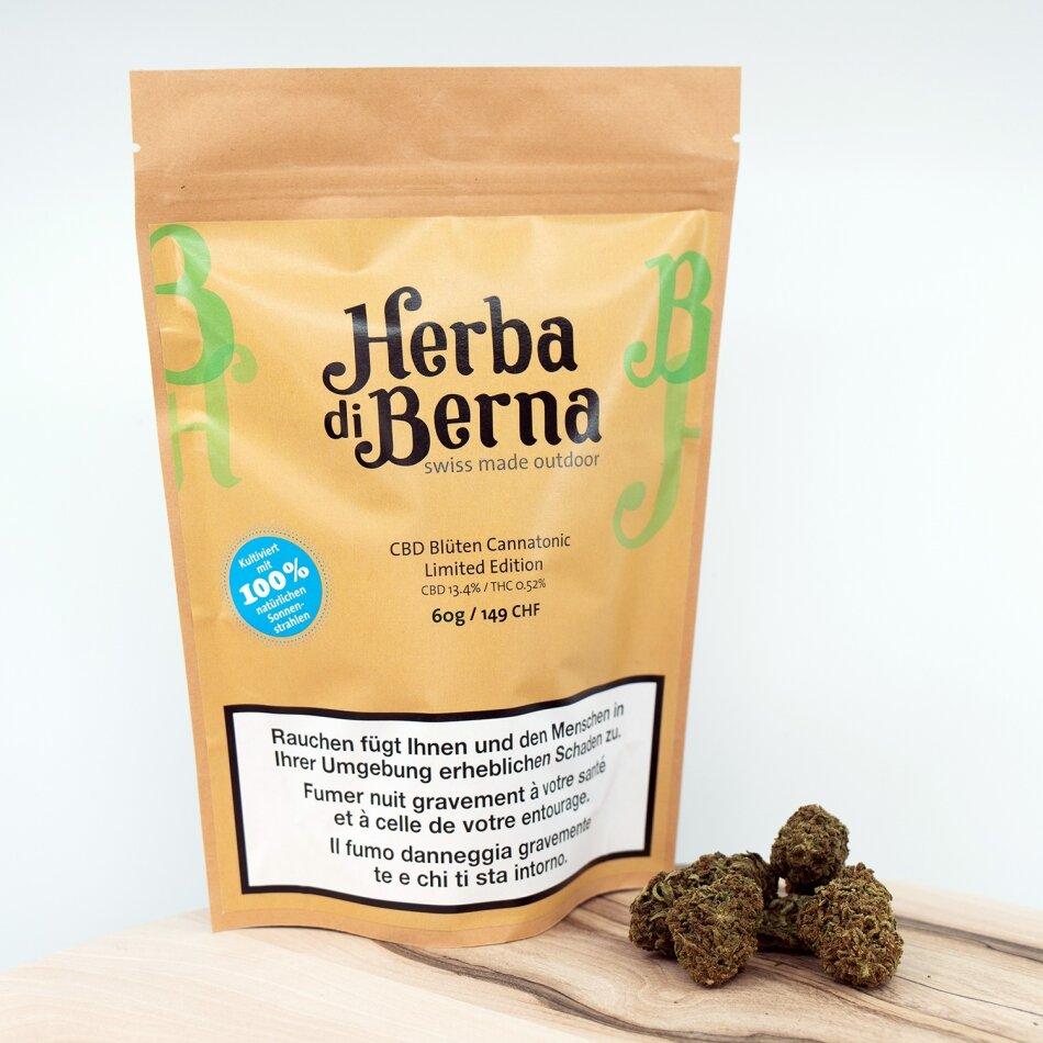 Herba di Berna Cannatonic (50g) - Outdoor (CBD: 13.4% THC: 0.52%)