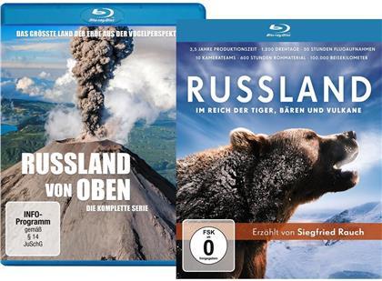Russland von oben / Russland - Im Reich der Tiger, Bären und Vulkane (2 Blu-rays)