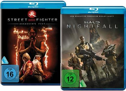 Halo: Nightfall / Street Fighter: Assassin's Fist (2 Blu-rays)