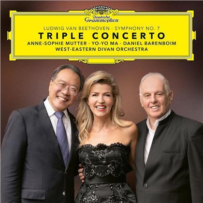 Anne-Sophie Mutter, Yo-Yo Ma, Daniel Barenboim & Ludwig van Beethoven (1770-1827) - Triple Concerto & Symphony (2 LPs)