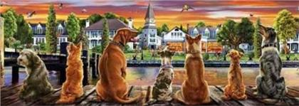 Educa Borras - Dogs on the Quay 1000 piece Panorama Jigsaw Puzzle