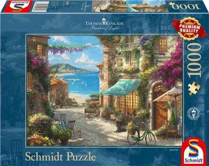 Thomas Kinkade: Café an der italienischen Riviera - 1000 Teile Puzzle