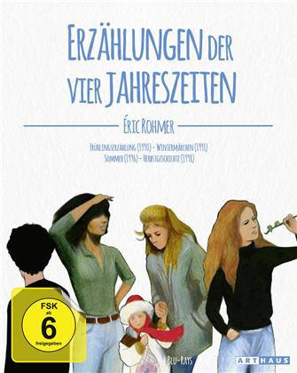 Eric Rohmer - Erzählungen der vier Jahreszeiten - Frühlingserzählung / Wintermärchen / Sommer / Herbstgeschichte (4 DVDs)