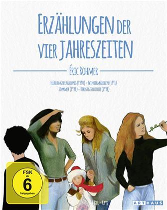 Eric Rohmer - Erzählungen der vier Jahreszeiten - Frühlingserzählung / Wintermärchen / Sommer / Herbstgeschichte (4 Blu-ray)