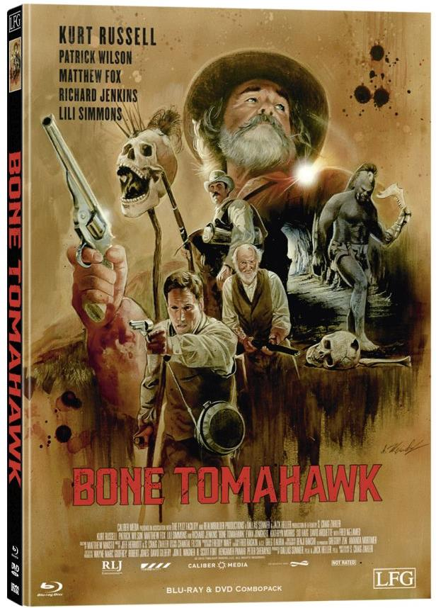 Bone Tomahawk (2015) (Cover F, Limited Edition, Mediabook, Blu-ray + DVD)