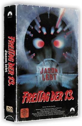 Freitag der 13. - Teil 6 - Jason lebt (1986) (VHS Retro Edition, VHS Box, Limited Edition, Blu-ray + DVD)