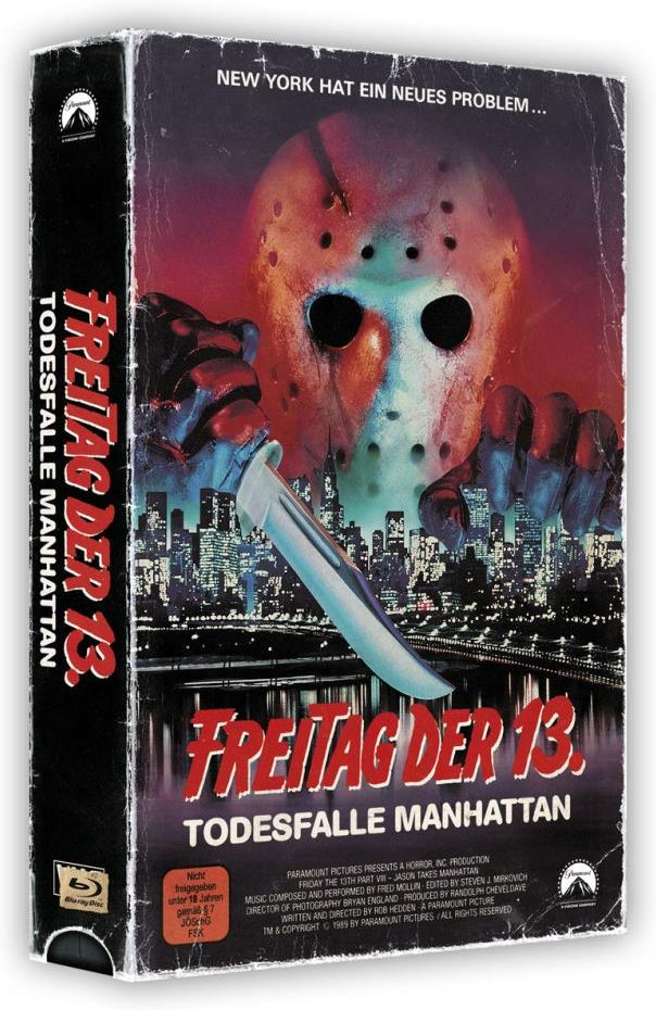 Freitag der 13. - Teil 8 - Todesfalle Manhattan (1989) (VHS Retro Edition, VHS Box, Limited Edition, Blu-ray + DVD)