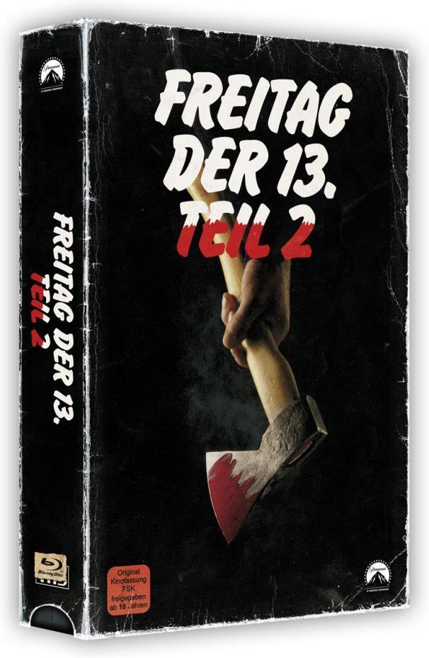 Freitag der 13. - Teil 2 (1981) (VHS Retro Edition, VHS Box, Limited Edition, Blu-ray + DVD)