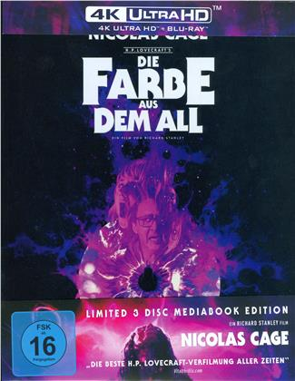 Die Farbe aus dem All (2019) (Cover A, Limited Edition, Mediabook, 4K Ultra HD + 2 Blu-rays)