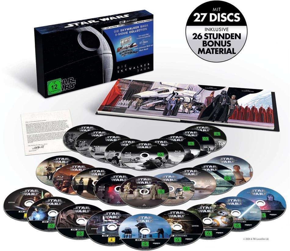 Star Wars: Episode 1-9 - Die Skywalker Saga (Schuber, 9 4K Ultra HDs + 18 Blu-rays + Buch)