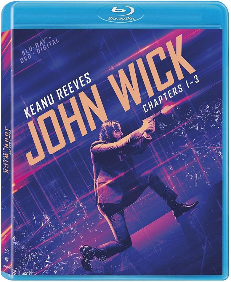 John Wick 1-3 (3 Blu-rays + 3 DVDs)