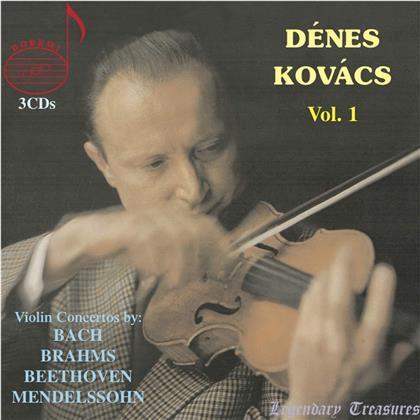 Johann Sebastian Bach (1685-1750), Johannes Brahms (1833-1897), Ludwig van Beethoven (1770-1827), Felix Mendelssohn-Bartholdy (1809-1847) & Dénes Kovács - Vol. 1 - Violin Concertos