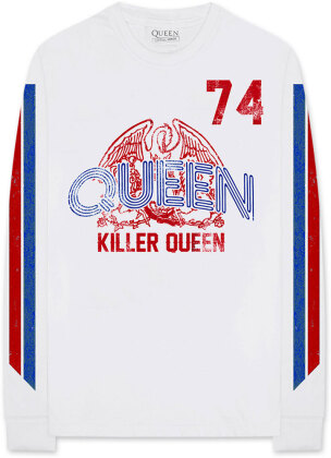 Queen Unisex Long Sleeved Tee - Killer Queen '74 Stripes (Arm Print)