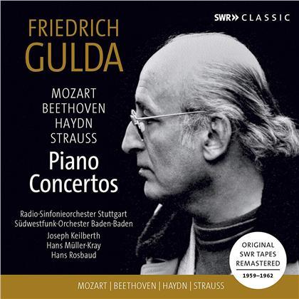 Wolfgang Amadeus Mozart (1756-1791), Ludwig van Beethoven (1770-1827), Joseph Haydn (1732-1809), Richard Strauss (1864-1949), Friedrich Gulda (1930-2000), … - Piano Concertos - Klavierkonzerte