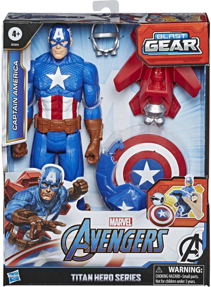 Avengers Blast Gear Captain - America, Titan Hero, 30 cm,
