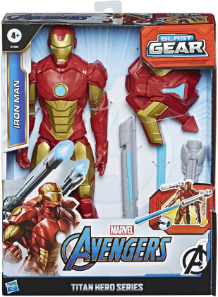 Avengers Blast Gear Iron Man - Titan Hero, 30 cm, Launcher