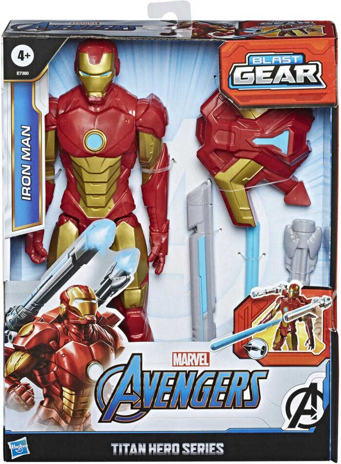 Avengers Blast Gear Iron Man - Titan Hero, 30 cm, Launcher