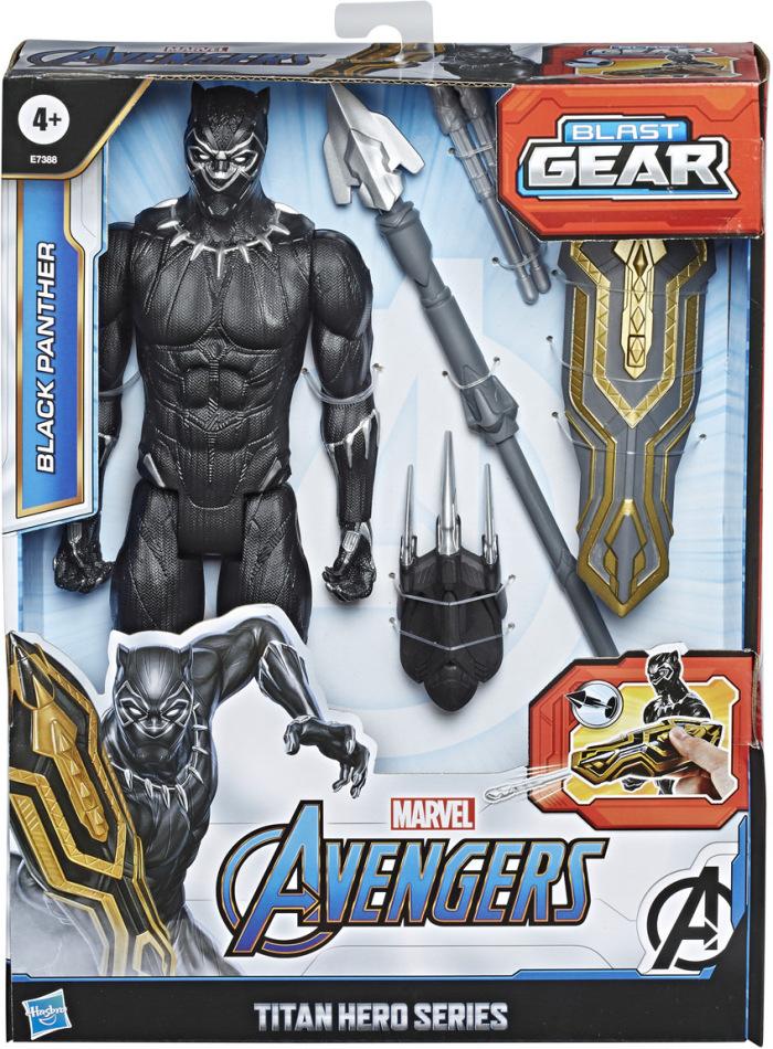 Avengers Blast Gear Black - Panther, Titan Hero, 30 cm,