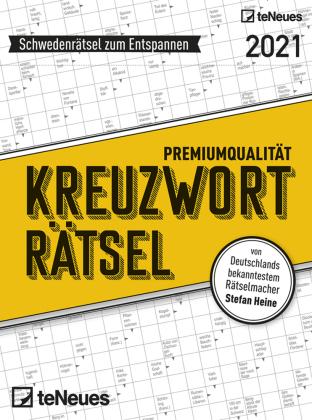 Stefan Heine Kreuzworträtsel 2021 Tagesabreißkalender - 11,8x15,9 - Rätselkalender - Knobelkalender - Tischkalender