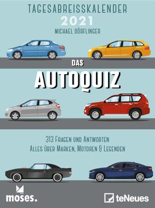 moses Autoquiz 2021 Tagesabreißkalender - 11,8x15,9 - Autokalender - Quizkalender