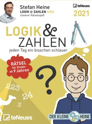 Stefan Heine Logik & Zahlen 2021 - Tagesabreißkalender - 11,8x15,9 - Logikkalender - Rätselkalender - Knobelkalender