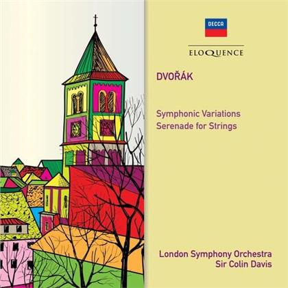 Antonin Dvorák (1841-1904), Sir Colin Davis & London Symphony Orchesta - Symphonic Variations / Serenade For String (Eloquence Australia)