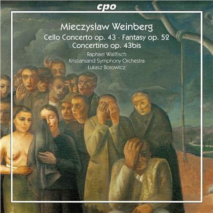 Mieczyslaw Weinberg (1919-1996), Lukasz Borowicz, Raphael Wallfisch & Kristiansand Symphony Orchestra - Cello Concerto - Fantasy - Concertino