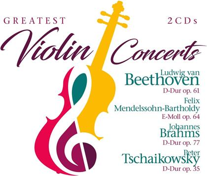 Ludwig van Beethoven (1770-1827), Felix Mendelssohn-Bartholdy (1809-1847), Johannes Brahms (1833-1897) & Peter Iljitsch Tschaikowsky (1840-1893) - Greatest Violin Concerts (2 CDs)