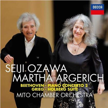 Ludwig van Beethoven (1770-1827), Edvard Grieg (1843-1907), Seiji Ozawa, Martha Argerich & Mito Chamber Orchestra - Piano Concertos