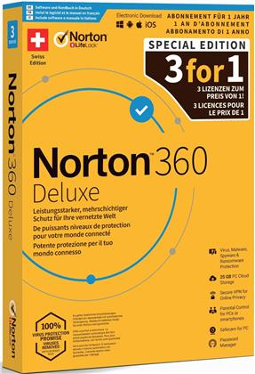 Norton Security 360 Deluxe 25GB 3For1 Device 12MO [PC/Mac/Android/iOS]