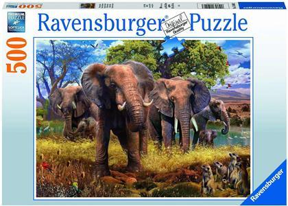 Elefantenfamilie - 500 Teile Puzzle