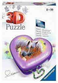 Herz Pferde '20 - 54 Teile 3D-Schatulle Puzzle