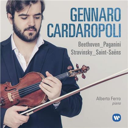 Ludwig van Beethoven (1770-1827), Niccolo Paganini (1782-1840), Igor Strawinsky (1882-1971), Camille Saint-Saëns (1835-1921) & Gennaro Cardaropoli - Beethoven - Paganini - Stravinsky - Saint-Saens